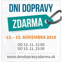Deň dopravy zdarma november 2018