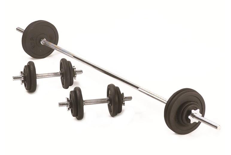Činkový set oceľový SPARTAN 80kg