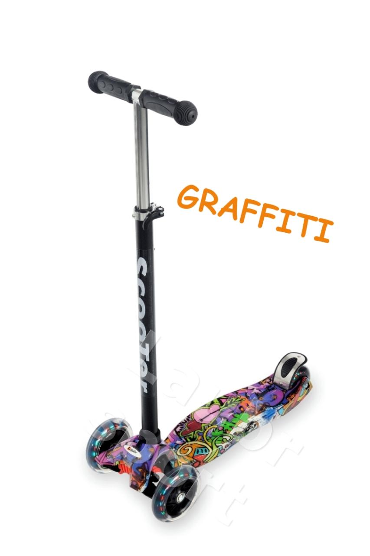 Trojkolesová kolobežka LAUBR Maxi Graffiti