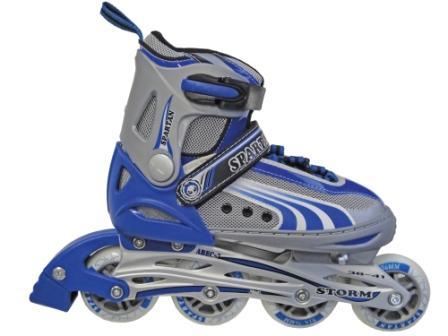 Kolieskové korčule nastav.SPARTAN STORM Modré