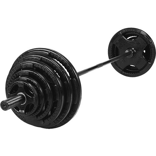 Olympijsky činkový set SPARTAN 140 kg - pogumovaný